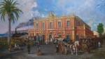 Obras de arte:  : España : Comunidad_Valenciana_Alicante : Elche : Alicante, estación ferrocarril en Benalúa.1940