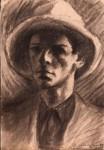 Obras de arte: America : Perú : Arequipa : Arequipa_ciudad : joven con sombrero