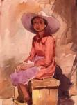 Obras de arte: America : Per� : Arequipa : Arequipa_ciudad : sentada bajo el sol