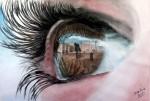Obras de arte:  : España : Castilla_La_Mancha_Toledo : Casarrubios_del_Monte : la mirada del palacio de oriente