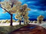 Obras de arte:  : Panamá : Veraguas : Santiago_de_Veraguas : llueve en septiembre