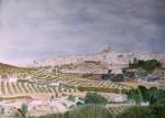 Obras de arte:  : España : Castilla_La_Mancha_Toledo : Casarrubios_del_Monte : Baena mi pueblo  ACUARELA