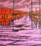 Obras de arte: America : Colombia : Distrito_Capital_de-Bogota : Bogota : Serie Manifestaciones paisajisticas rosa