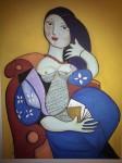 Obras de arte:  : España : Andalucía_Cádiz : Algeciras : mujer vestida de Vitorio y Lucchino