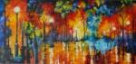 Obras de arte: America : Colombia : Antioquia : Medellin : EN EL PARQUE AL CAER LA TARDE
