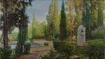 Obras de arte:  : España : Catalunya_Barcelona : Barcelona : soledad del jardin .
