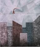 Obras de arte: America : Argentina : Buenos_Aires : Ciudad_de_Buenos_Aires : Hombre feliz en ciudad gris