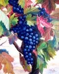 Obras de arte: Europa : España : Galicia_Pontevedra : Cambados : Uvas en azul