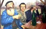 Obras de arte: Europa : España : Galicia_Pontevedra : Cambados : Borrachos ellos