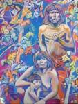 Obras de arte: America : Chile : Region_Metropolitana-Santiago : pirque : Familia Indigena