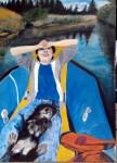 Obras de arte:  : Estados_Unidos : California : los_angeles : EL nino y el perro en el rio