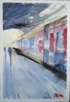 """Obras de arte:  : España : Catalunya_Barcelona : Barcelona_ciudad : """"Railway num.3"""""""
