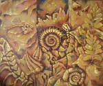 Obras de arte:  : México : Hidalgo : pachuca : EL NATURALISTA Y LOS FOSILES