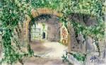 Obras de arte: Europa : España : Catalunya_Barcelona : Castelldefels : Entrada castillo de Rocamora