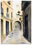 Obras de arte: Europa : España : Catalunya_Barcelona : Castelldefels : Arco calle barrio Gótico