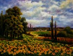 Obras de arte: Europa : Espa�a : Madrid : Las_Rozas : Campo con girasoles