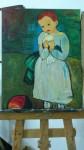 Obras de arte:  : Guinea_Ecuatorial : Region_insular : St._Isabel : Niña con Paloma
