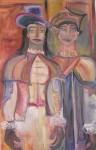 Obras de arte:  : España : Galicia_La_Coruña : Santiago_de_Compostela : cabezudos