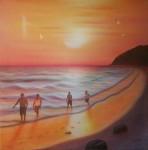 Obras de arte: America : M�xico : Veracruz-Llave : orizaba : La familia en playa montep�o, Veracruz.