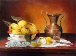Obras de arte: Europa : España : Andalucía_Sevilla : Pilas : Bodegón de membrillos y limones