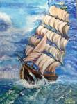 Obras de arte:  : España : Catalunya_Girona : Fontcoberta : Barco de el mar aniré to