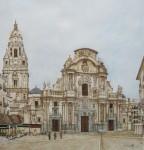 Obras de arte: Europa : España : Murcia : cartagena : Vista catedral de murcia