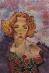 Obras de arte: Europa : España : Andalucía_Sevilla : Sevilla-ciudad : Marlene Dietrich entre rosas rojas