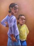 Obras de arte:  : España : Extremadura_Badajoz : badajoz_ciudad : Niñas egipcias