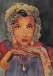 Obras de arte: Europa : España : Andalucía_Sevilla : Sevilla-ciudad : Greta Garbo con 22 años