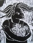 Obras de arte: America : Brasil : Parana : Curitiba : Menina com rosas