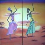 Obras de arte: America : Chile : Region_Metropolitana-Santiago : Renca : Danzando en la sabana