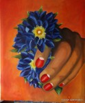 Obras de arte: Europa : España : Canarias_Las_Palmas : Maspalomas : Blue hand
