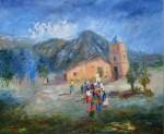 Obras de arte: America : Argentina : Salta : Salta_ciudad : MAÑANA DE MISACHICO - San Isidro, Salta
