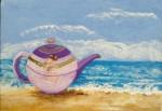 Obras de arte:  : España : Catalunya_Girona : Fontcoberta : Mujer frente el mar