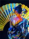 Obras de arte: Europa : España : Galicia_Pontevedra : Cambados : Dama del abanico