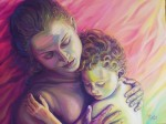 Obras de arte: Europa : España : Galicia_Pontevedra : Cambados : Maternidad en rojo-verde