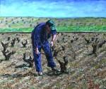 Obras de arte:  : España : Extremadura_Badajoz : Merida_badajoz : HOMBRE PODANDO