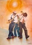 Obras de arte: America : Chile : Region_Metropolitana-Santiago : Las_Condes : Trio de Musicos  Negros Melodicos