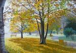 Obras de arte: Europa : España : Catalunya_Barcelona : Sabadell : Parque en otoño