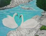 Obras de arte:  : España : Andalucía_Sevilla : Sevilla-ciudad : Los cisnes
