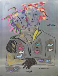 Obras de arte: America : Colombia : Santander_colombia : Bucaramanga : Couple sur le Boulevar