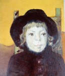 Obras de arte:  : Argentina : Santa_Fe : Rosario_ciudad : niña con sombrero