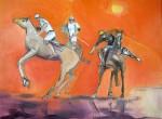 Obras de arte:  : Argentina : Santa_Fe : Rosario_ciudad : Caballos de polo