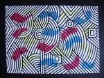 Obras de arte:  : España : Catalunya_Barcelona : Barcelona : LINEA Y MANCHA EVOCANDO SOBRE EL PLANO-1
