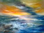 Obras de arte: America : Argentina : Buenos_Aires : Capital_Federal : tormenta sobre el mar
