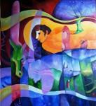 Obras de arte:  : Perú : Piura : Piura-ciudad : BAJO LA SOMBRA DEL CEIBO ROJO