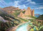 Obras de arte: Europa : España : Aragón_Huesca : BARBASTRO : Mallos de Riglos