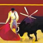 Obras de arte: Europa : España : Madrid : Madrid_ciudad : Juanvino rojo y toros