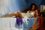 Obras de arte:  : España : Cantabria : Astillero : La mujer del pelo rojo II
