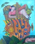 Obras de arte: America : Venezuela : Merida : pedregosa : El sueno de Alfonsina